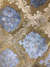 Blue Damask Upholstery Fabric Damask Fabric Ebay