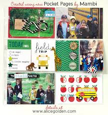 pocket pages new mambi pocket pages school field trip layout golden moments