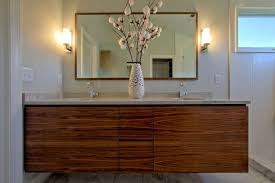 Modern Walnut Bathroom Vanity Wall Hung Vanity In Walnut Matching Walnut Mirror Dual