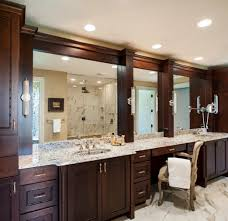How To Frame A Bathroom Mirror With Crown Molding Surprising Framed Bathroom Mirrors Ideas Pictures Best Idea