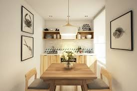 interior small l shape white kitchen design with laminate floor