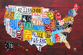 Blank Printable Us Map by Amazon Com Poster Service License Plate Map Of The Us Poster 24
