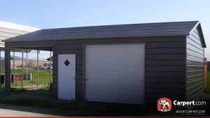 Carports And Garages Metal Garage With Two Sections 22 U0027 X 31 U0027 Shop Metal Buildings