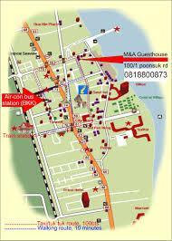 Local Map Contact M U0026a Guesthouse Hua Hin Thailand