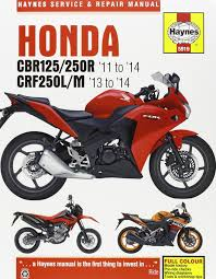 honda cbr125 250r u0026 crf250l m service and repair manual 2011 2014