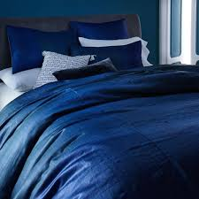 sari silk duvet cover shams indigo west elm