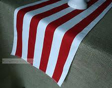 red and white table runner handmade striped 100 linen table runners ebay