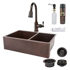 premier copper products ka40db33229 double basin farmhouse sink