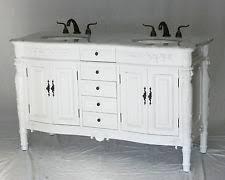 58 Double Sink Vanity Antique Double Vanity Ebay