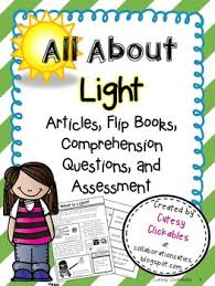 light energy activities and lessons articles flip books
