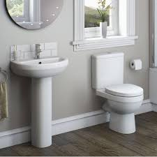 Contemporary Bathroom Suites - contemporary bathroom with cloakroom suite space saving toilet