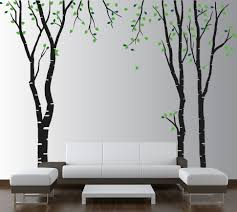 large wall birch tree decal forest kids vinyl sticker removable