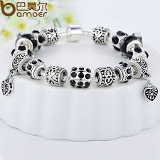 european silver charm bracelet images Bamoer hot sell european style silver crystal charm bracelet for jpg