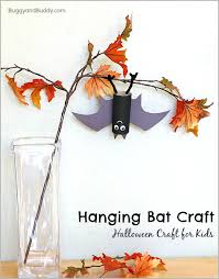 hanging bat craft for kids with bat wing template buggy and buddy
