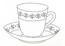 Tea Cup Coloring Pages Printable Cup Coloring Page