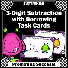 3 digit subtraction with regrouping 3rd grade math centers