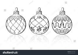 vector sketch three christmas balls on stock vector 239372932