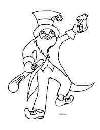 dancing lerprechaun coloring page