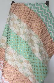 Nursery Bedding For Girls Modern by Baby Quilt Blanket Brambleberry Glitz Modern