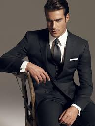 classic black suit with vest mens suits tips