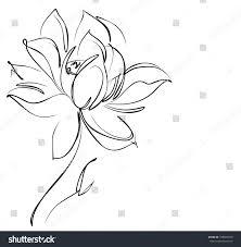 religion symbol lotus drawing vector graphics stock vector