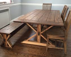 Handmade Kitchen Table Solid Pine Farmhouse Dining Table Interior Design