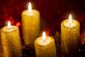 christmas candle lights red background photohdx