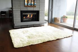 flooring exciting sheepskin rug for interesting living room design