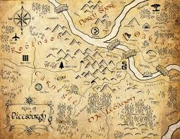map from lord of the rings pittsburgh lord of the ring style map i created for my wedding lotr