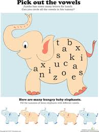 find the vowels the alphabet high and preschool