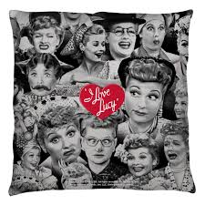 lucy many faces throw pillow u2013 lucille ball desi arnaz museum