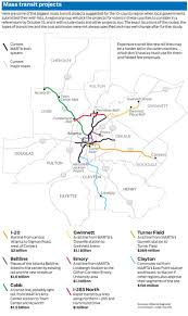 Marta Train Map County Favors Roads Over Rail