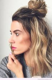 up style for 2016 hair half knot for medium hair summer 2017 hairstyles pinterest