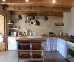 cuisine bois acier cuisine de cagne photo 2 4 cuisine ouverte sur le salon