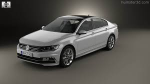 volkswagen sedan 2015 360 view of volkswagen passat r line b8 sedan 2015 3d model