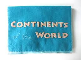 World Map Of Continents And Oceans To Label by Montessori Continents Map U0026 Quietbook With 3 Part Cards Imagine