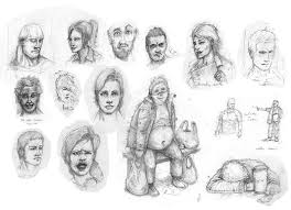 faces from train journey sketch book funny by jd84 on deviantart