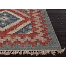 jaipur rug10017 anatolia flat weave tribal pattern wool red blue