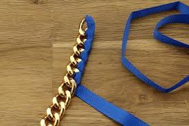 make ribbon necklace images Diy gold chain ribbon necklace to make a statement jpg