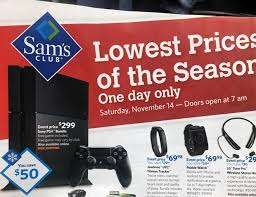 ps4 black friday sale sam u0027s club pre black friday doorbuster sale to offer playstation 4