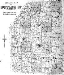 Ohio Pennsylvania Map by Butler County Pennsylvania Maps 1874