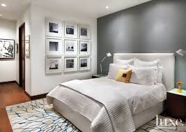gray wall bedroom white master bedroom with gray accent wall luxe interiors design