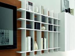 Bookshelves Decorating Ideas by White Wall Mounted Bookshelves Decorating Ideas Gyleshomes Com