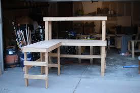garage workbench how to build corner workbench in garage an l