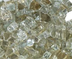 Fire Pit Crystals - icy mint clear fireglass fire glass fireplace fire pit firepit