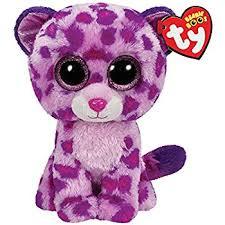 ty beanie boo plush glamour leopard 15cm amazon uk toys