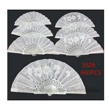 fans wholesale white laced embroidery fans wholesale