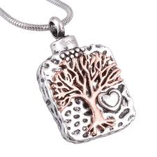 keepsakes for ashes aliexpress buy tree of anti silver cremation necklace