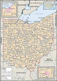 Road Map Of Michigan State And County Maps Of Ohio