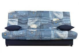 canapé clic clac canapé clic clac motif jean pour un salon cool et tendance